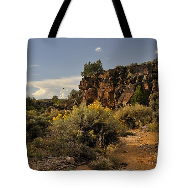Tote Bag featuring the photograph Westward Across The Mesa by Ron Cline