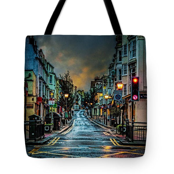 Wet Morning In Kemp Town Tote Bag by Chris Lord