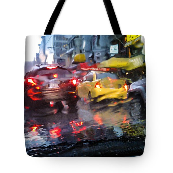 Wet Ride Home Tote Bag by Jim Moore