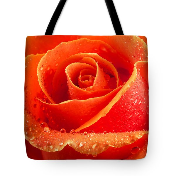 Wet Rose Tote Bag