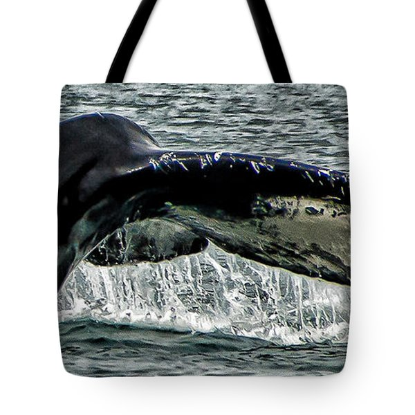 Whale Tail Tote Bag by Jon Berghoff