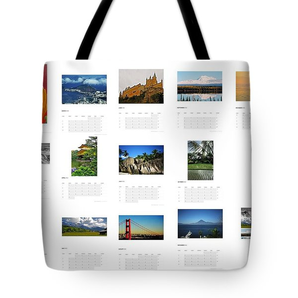 What A Wonderful World Calendar 2012 Tote Bag by Juergen Weiss