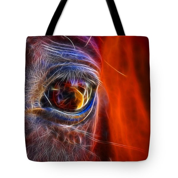 What Are You Looking At Now? Tote Bag by Mariola Bitner