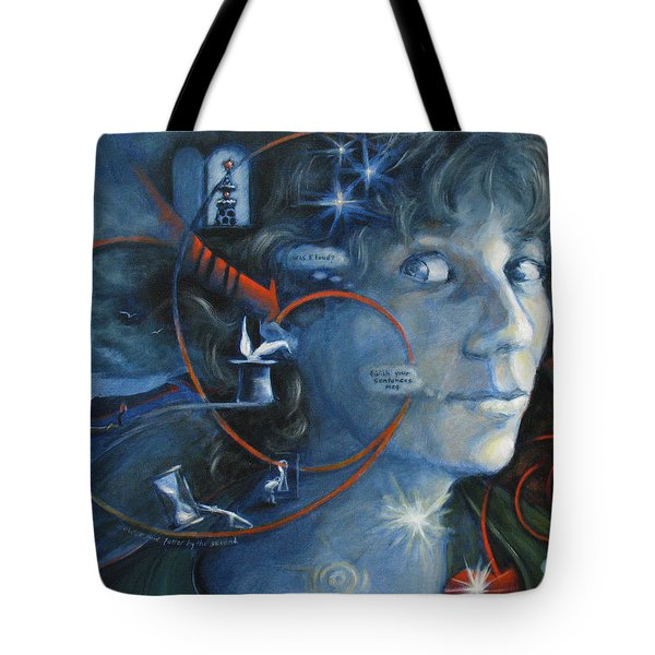 What I Was Thinking 5 Minutes Ago Tote Bag by Meg Biddle