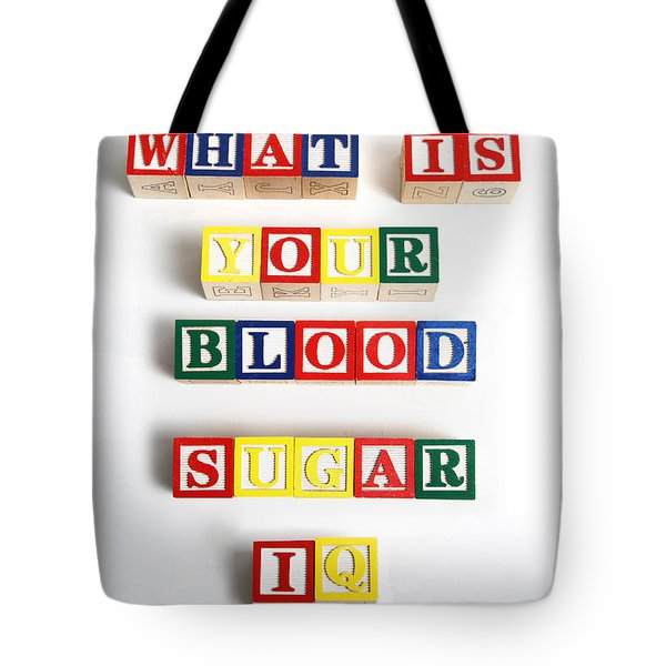 What Is Your Blood Sugar Iq Tote Bag by Photo Researchers
