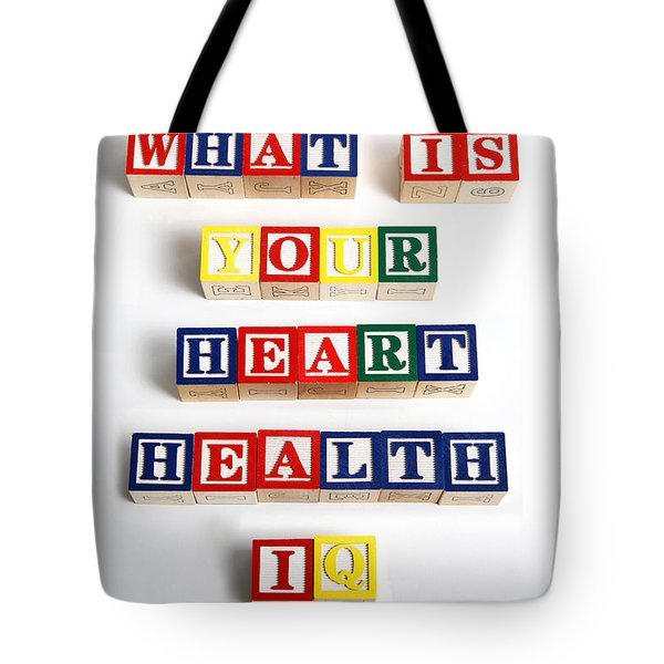 What Is Your Heart Health Iq Tote Bag by Photo Researchers, Inc.