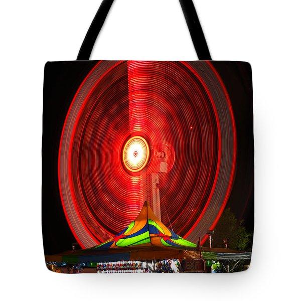 Wheel In The Sky Tote Bag by Gordon Dean II