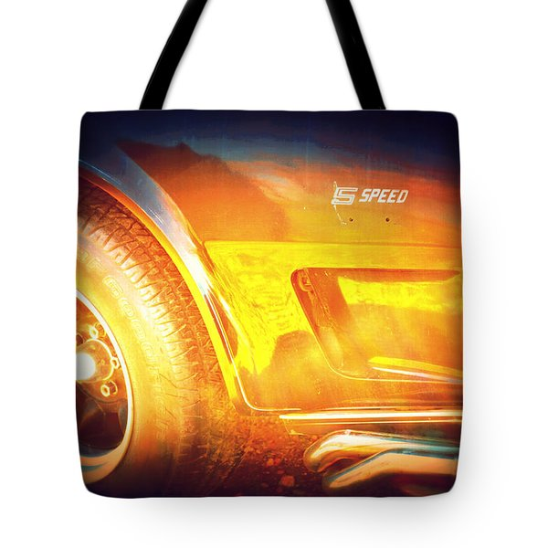Wheel On Fire Tote Bag by Diane montana Jansson