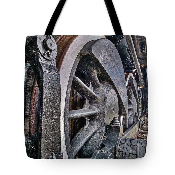 Wheels Of Steel Tote Bag