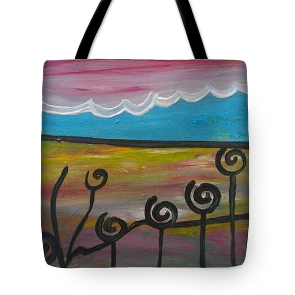 Wheels Turning Tote Bag by Kelly Turner