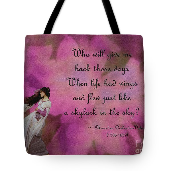 When Life Had Wings Tote Bag by Patricia Griffin Brett