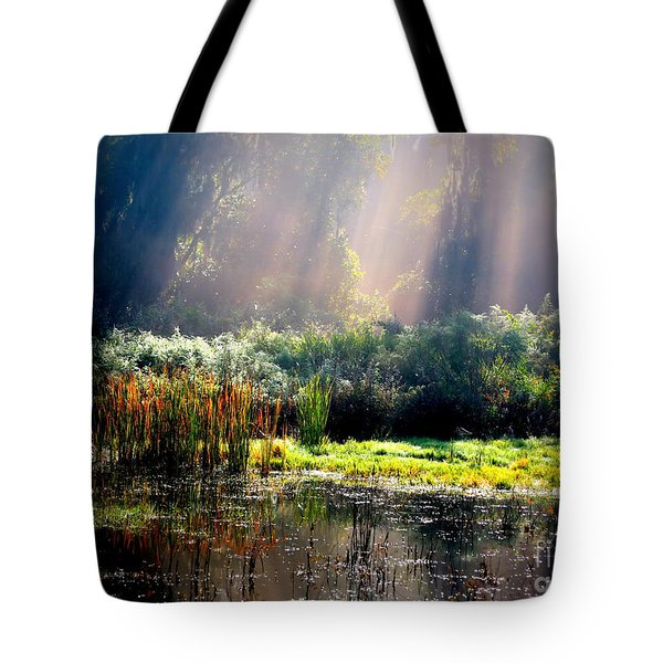 When Morning Hits The Marsh Tote Bag by Carol Groenen