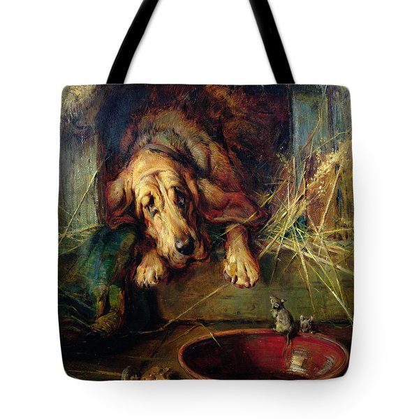 When The Cat's Away The Mice Will Play  Tote Bag by Philip Eustace Stretton
