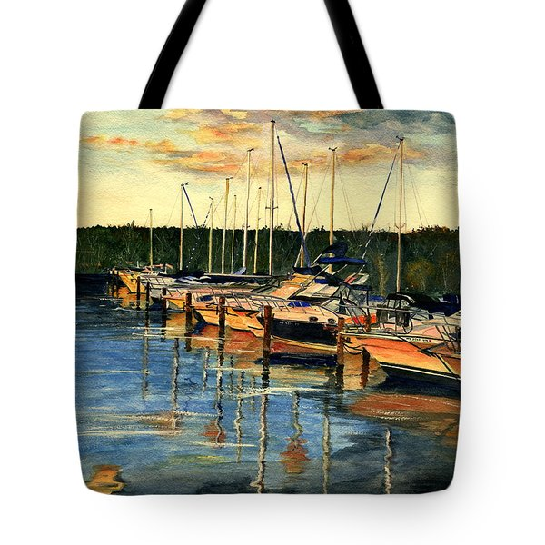 When The Evening Come Tote Bag by Melly Terpening