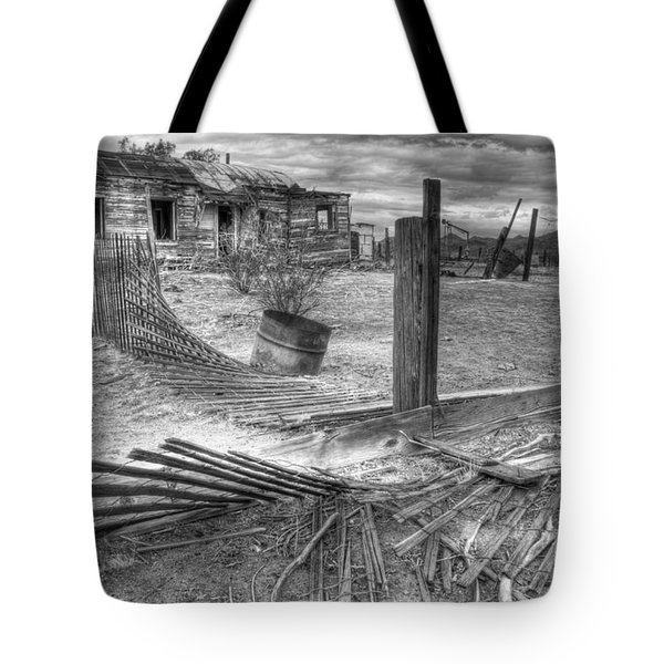 Where Does The Story End Monochrome Tote Bag by Bob Christopher