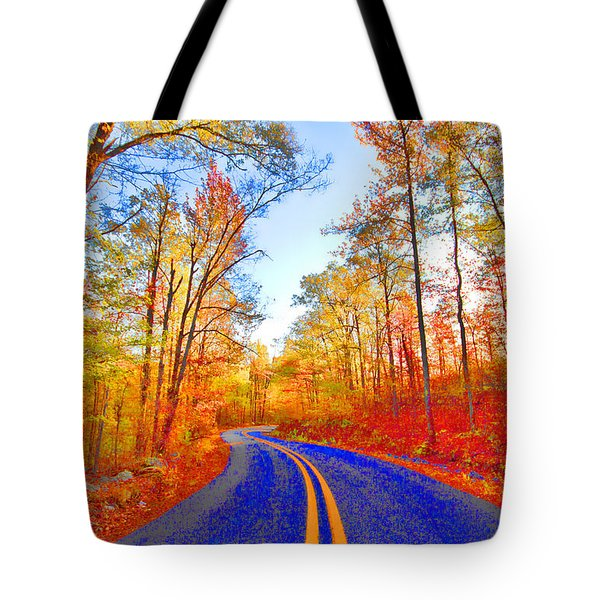 Where The Road Snakes Tote Bag by Douglas Barnard