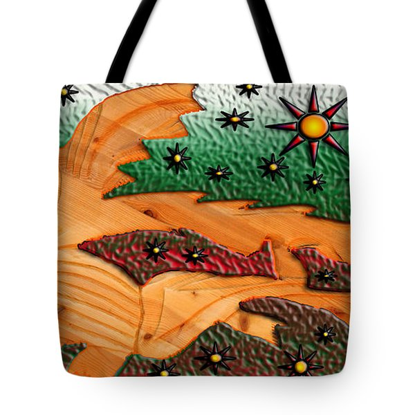 Where The Wild Fish Are Tote Bag by Robert Margetts