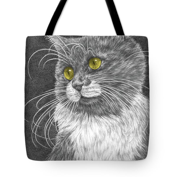 Whiskers - Color Tinted Art Print Tote Bag