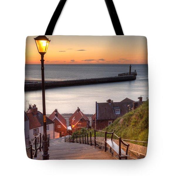 Whitby Steps - Orange Glow Tote Bag