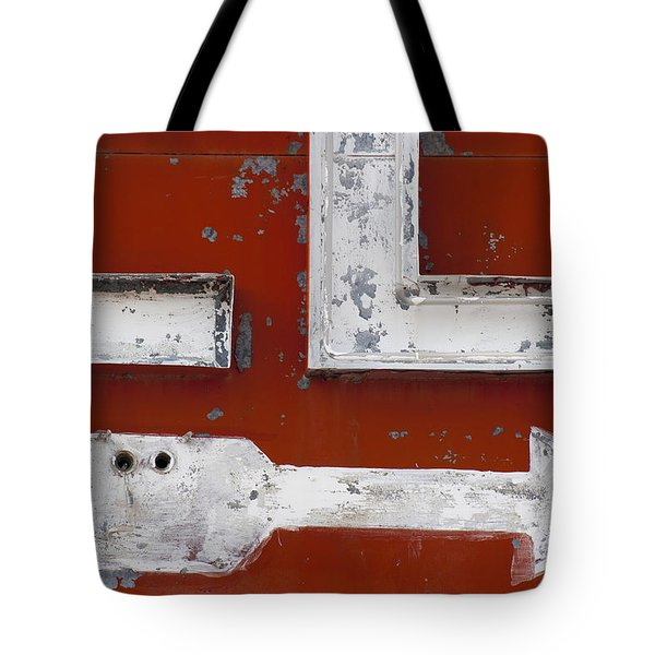 White Arrow On Motel Sign Tote Bag