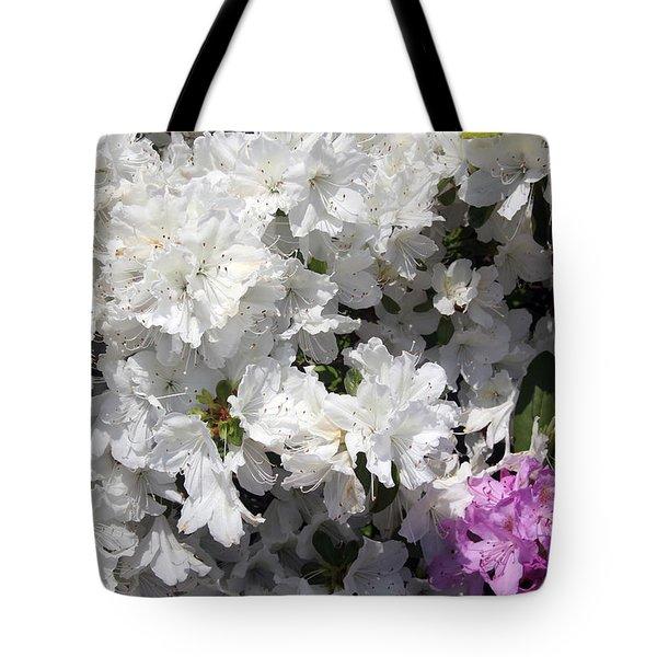 White Azalea Tote Bag