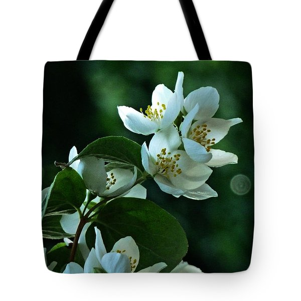 Tote Bag featuring the photograph White Buds And Blossoms by Steve Taylor