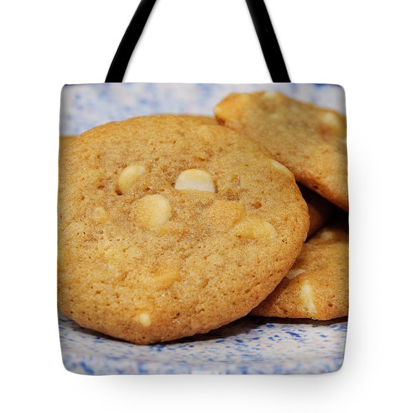 White Chocolate Chip Cookies Tote Bag by Andee Design