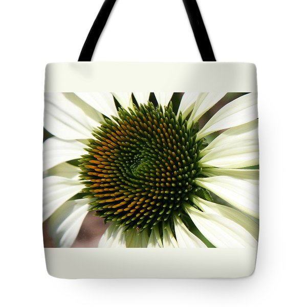 White Coneflower Daisy Tote Bag by Donna Corless