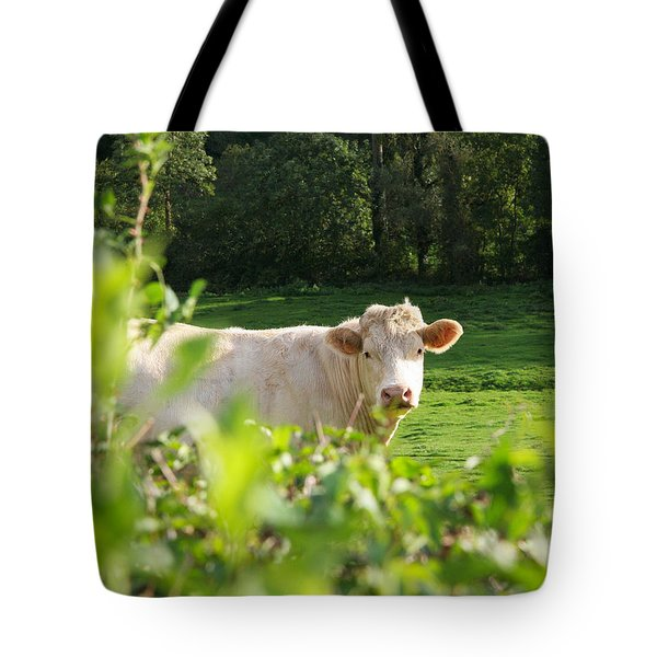 White Cow Tote Bag