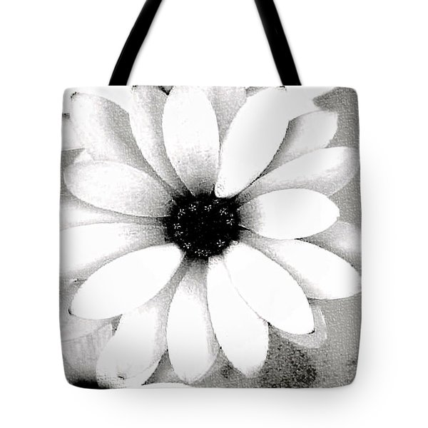 Tote Bag featuring the photograph White Daisy by Tammy Espino