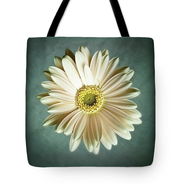 White Daisy Tote Bag by Tamyra Ayles