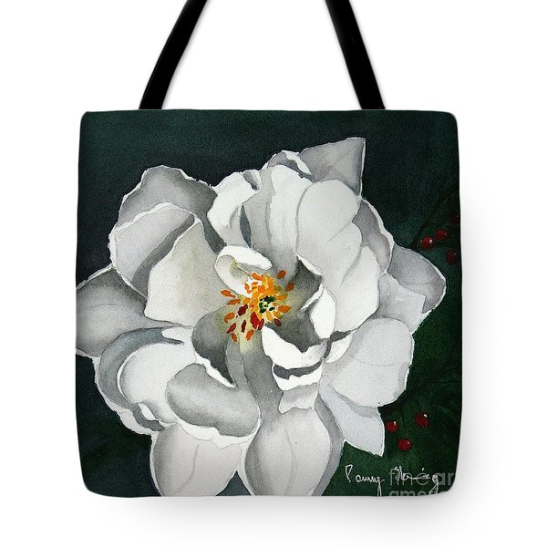 White Double Tulip Tote Bag