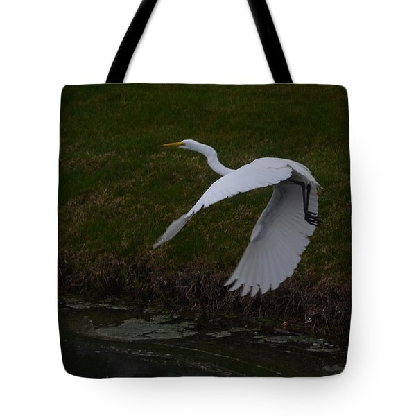 White Egret Tote Bag