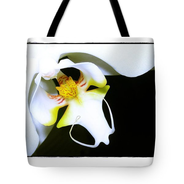 White Elegance Tote Bag by Judi Bagwell