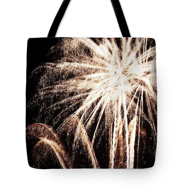 White Explosion Tote Bag