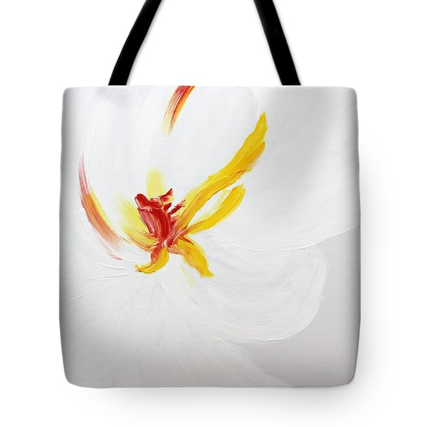 Tote Bag featuring the painting White Flower by Kume Bryant