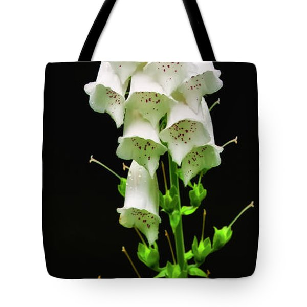 Tote Bag featuring the photograph White Foxglove by Albert Seger