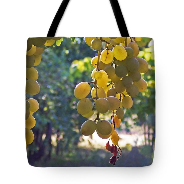 White Grapes Tote Bag by Barbara McMahon