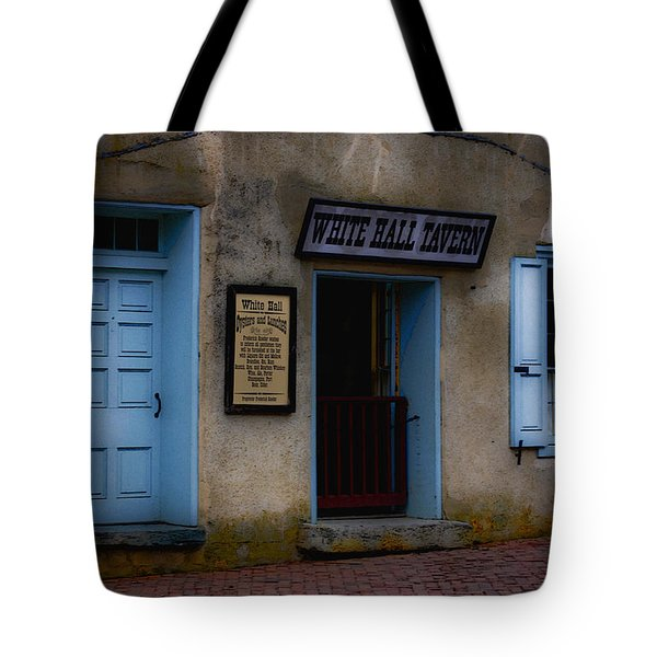 White Hall Tavern Tote Bag by Ron Jones
