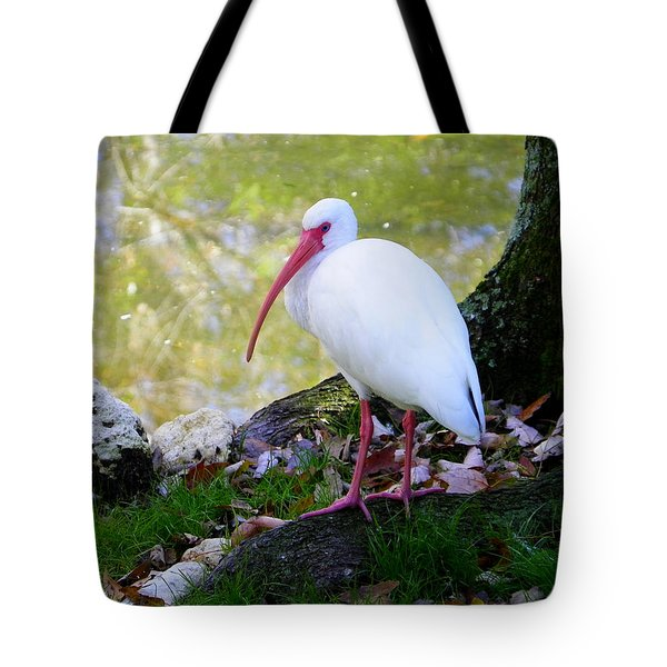 White Ibis Tote Bag by Judy Wanamaker