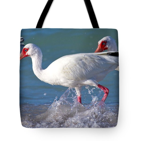 White Ibis On The Shore Tote Bag