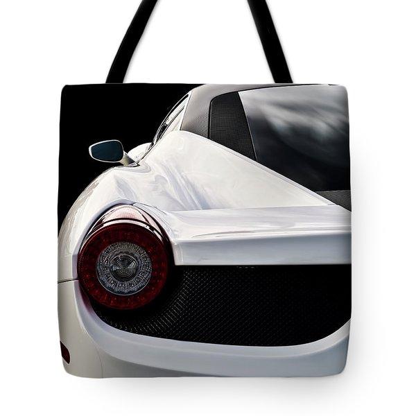 White Italia Tote Bag