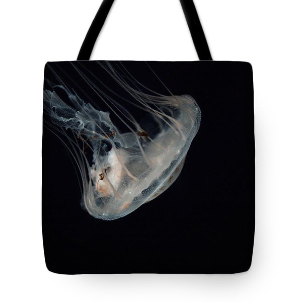 White Jelly In Black Space Tote Bag