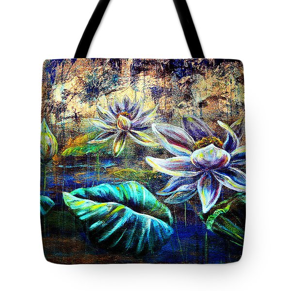 White Lotus Tote Bag