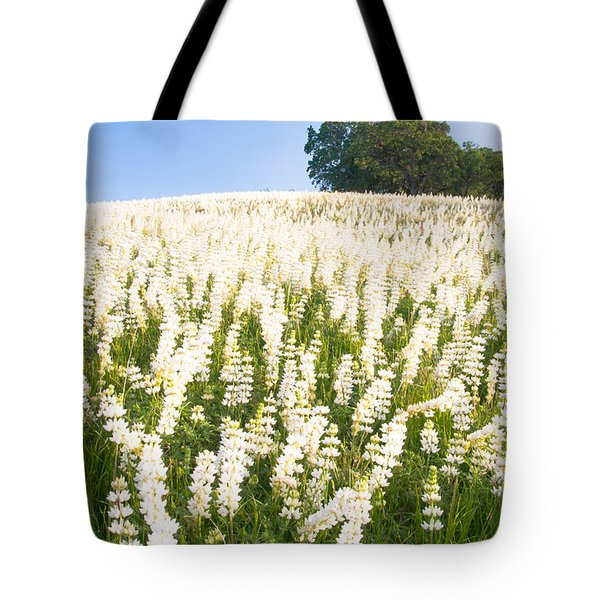 White Lupine Tote Bag