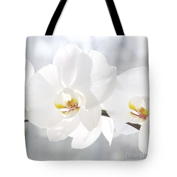 Tote Bag featuring the photograph White Orchid by Cindy Lee Longhini