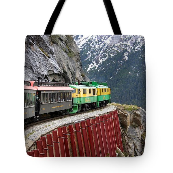 Tote Bag featuring the photograph White Pass Train Ride by Laurel Talabere