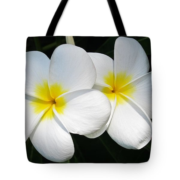 White Plumerias Tote Bag