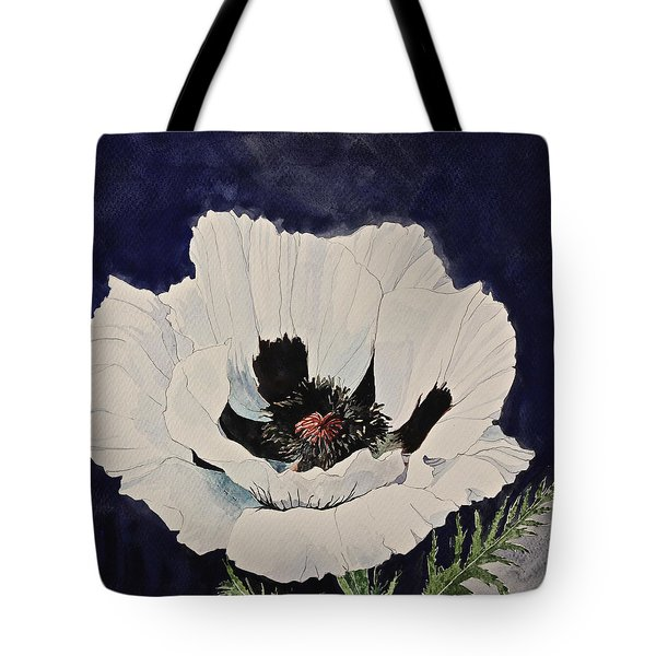 White Poppy-posthumously Presented Paintings Of Sachi Spohn  Tote Bag