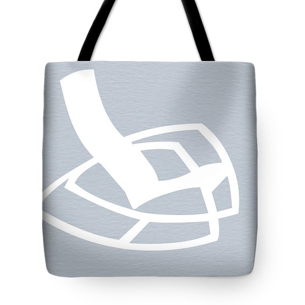 White Rocking Chair Tote Bag by Naxart Studio